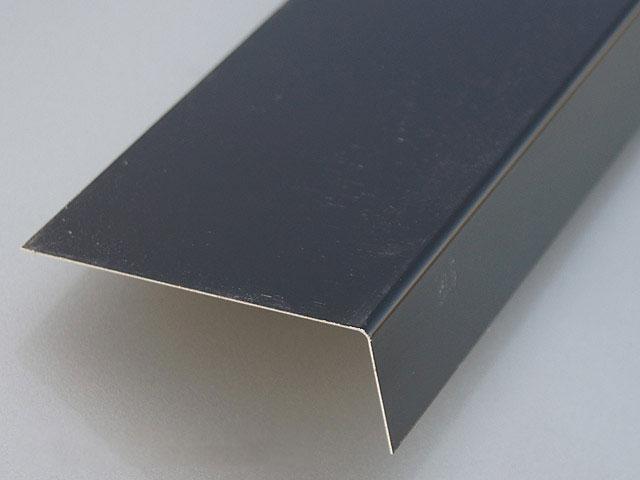 Remate de aluminio plegado